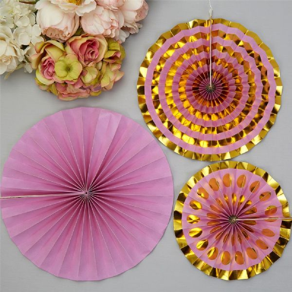Lilac Pinwheel Decorations (3)